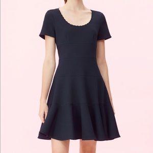 Rebecca Taylor Black Sleeveless Skater Dress